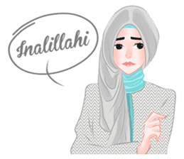 Hijab Outfit of The Day sticker #8837649