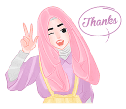 Hijab Outfit of The Day sticker #8837650