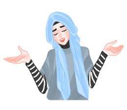 Hijab Outfit of The Day sticker #8837674