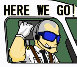 Funny Jet Pilot sticker #8838404
