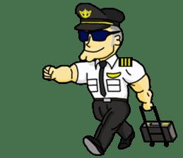 Funny Jet Pilot sticker #8838409