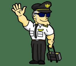Funny Jet Pilot sticker #8838418