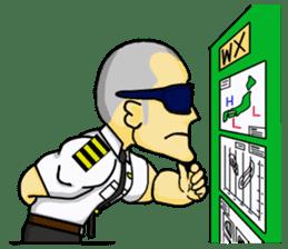 Funny Jet Pilot sticker #8838423