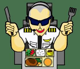 Funny Jet Pilot sticker #8838433