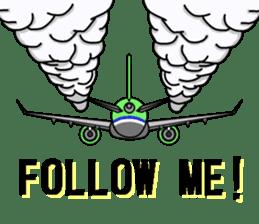 Funny Jet Pilot sticker #8838434