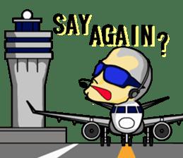 Funny Jet Pilot sticker #8838439