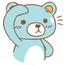 Cutie pastel bear sticker #8841768
