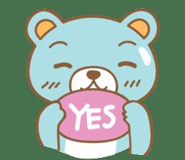 Cutie pastel bear sticker #8841772