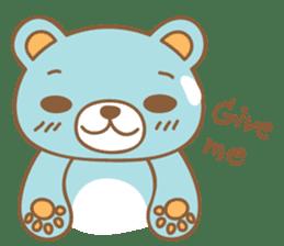 Cutie pastel bear sticker #8841785