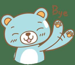 Cutie pastel bear sticker #8841795