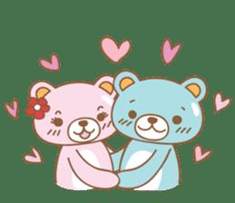 Cutie pastel bear sticker #8841796