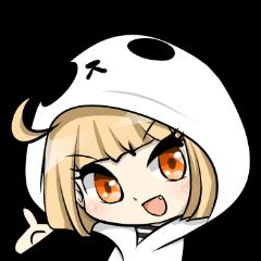 Panda girl manga style sticker
