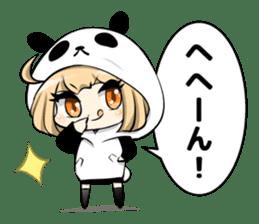Panda girl manga style sticker sticker #8847801