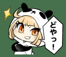 Panda girl manga style sticker sticker #8847802