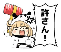 Panda girl manga style sticker sticker #8847808