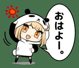 Panda girl manga style sticker sticker #8847812