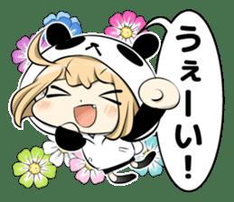Panda girl manga style sticker sticker #8847813