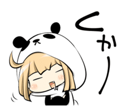 Panda girl manga style sticker sticker #8847819