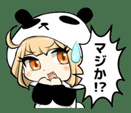 Panda girl manga style sticker sticker #8847821