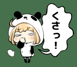 Panda girl manga style sticker sticker #8847825
