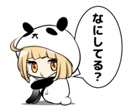 Panda girl manga style sticker sticker #8847827