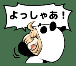 Panda girl manga style sticker sticker #8847828