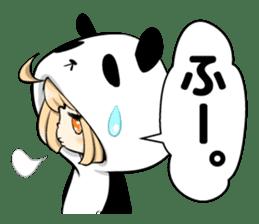 Panda girl manga style sticker sticker #8847830