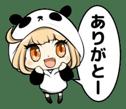 Panda girl manga style sticker sticker #8847836