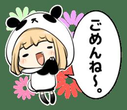 Panda girl manga style sticker sticker #8847837
