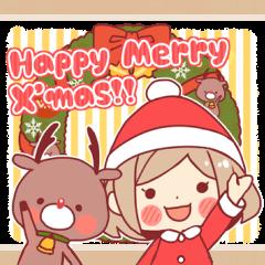 Santa girl & reindeer