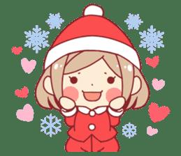 Santa girl & reindeer sticker #8860021