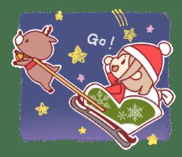 Santa girl & reindeer sticker #8860026
