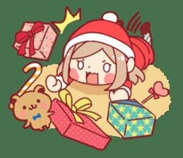 Santa girl & reindeer sticker #8860033