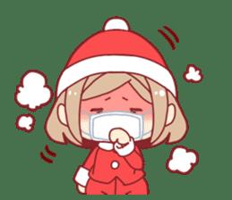 Santa girl & reindeer sticker #8860038