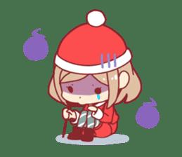 Santa girl & reindeer sticker #8860044