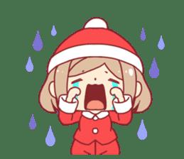 Santa girl & reindeer sticker #8860045