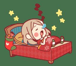 Santa girl & reindeer sticker #8860053