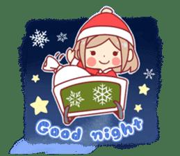 Santa girl & reindeer sticker #8860054