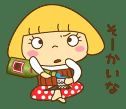 Cute Hana no.5.Winter. Also kimono. sticker #8864417