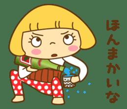 Cute Hana no.5.Winter. Also kimono. sticker #8864418
