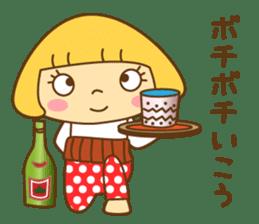Cute Hana no.5.Winter. Also kimono. sticker #8864419