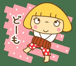 Cute Hana no.5.Winter. Also kimono. sticker #8864421