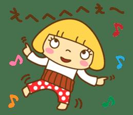 Cute Hana no.5.Winter. Also kimono. sticker #8864423