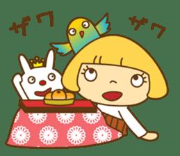 Cute Hana no.5.Winter. Also kimono. sticker #8864424
