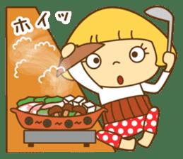 Cute Hana no.5.Winter. Also kimono. sticker #8864425