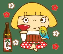 Cute Hana no.5.Winter. Also kimono. sticker #8864426