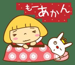 Cute Hana no.5.Winter. Also kimono. sticker #8864427
