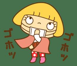 Cute Hana no.5.Winter. Also kimono. sticker #8864429