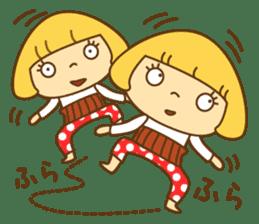 Cute Hana no.5.Winter. Also kimono. sticker #8864433