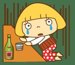 Cute Hana no.5.Winter. Also kimono. sticker #8864435